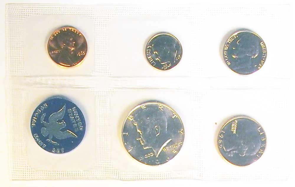 1965 SMS U.S. Special Mint Set - All Original 5 Coin Special Mint Set
