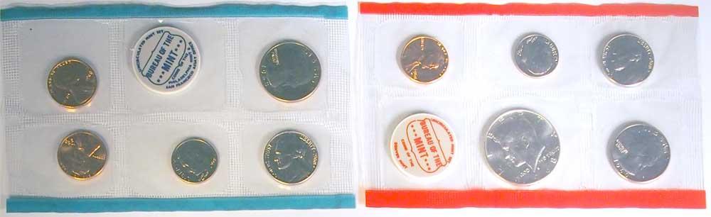1968 Mint Set - All Original 10 Coin U.S. Mint Uncirculated Set
