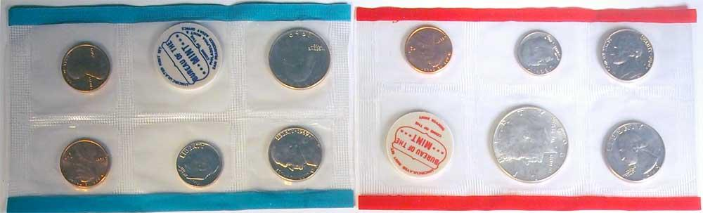 1969 Mint Set - All Original 10 Coin U.S. Mint Uncirculated Set