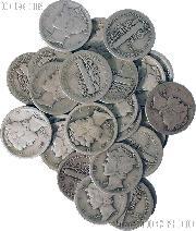 1917-D Mercury Silver Dime - Lower Grade