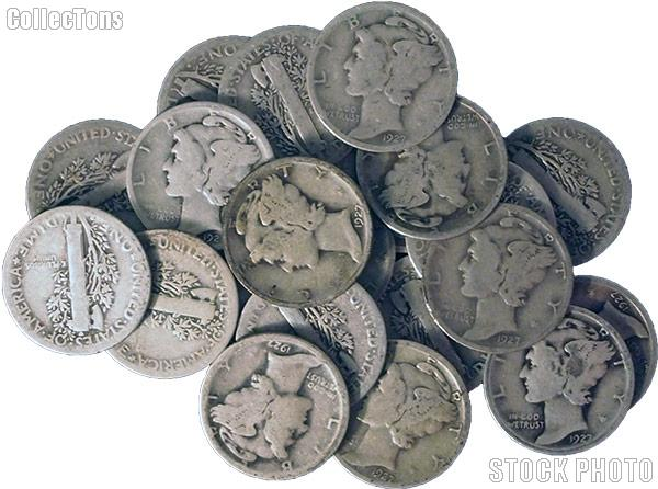 1927-D Mercury Silver Dime - Lower Grade