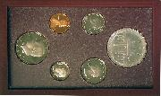 1984 PRESTIGE PROOF SET Deluxe Box & Papers 6 Coin U.S. Mint Proof Set