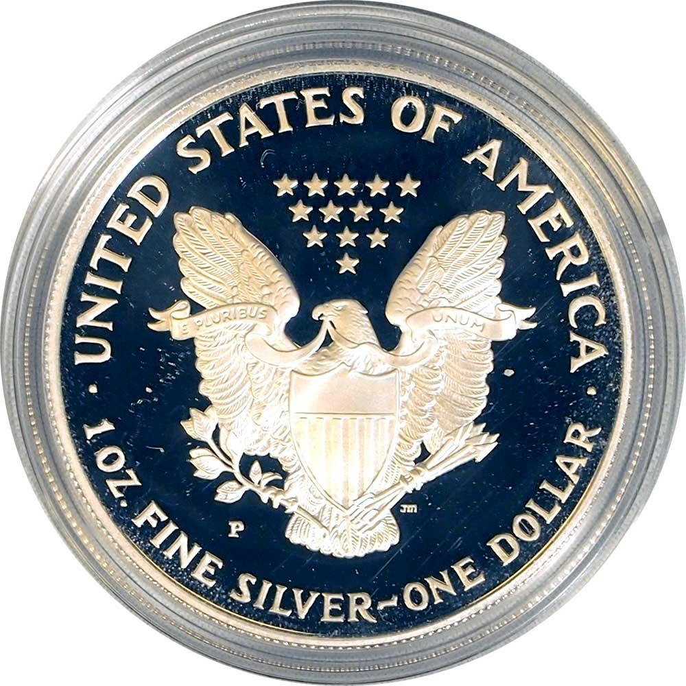 1996 Silver Eagle PROOF In Box with COA 1996-P American Silver Eagle Dollar Proof