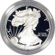 2007 Silver Eagle PROOF In Box with COA 2007-W American Silver Eagle Dollar Proof