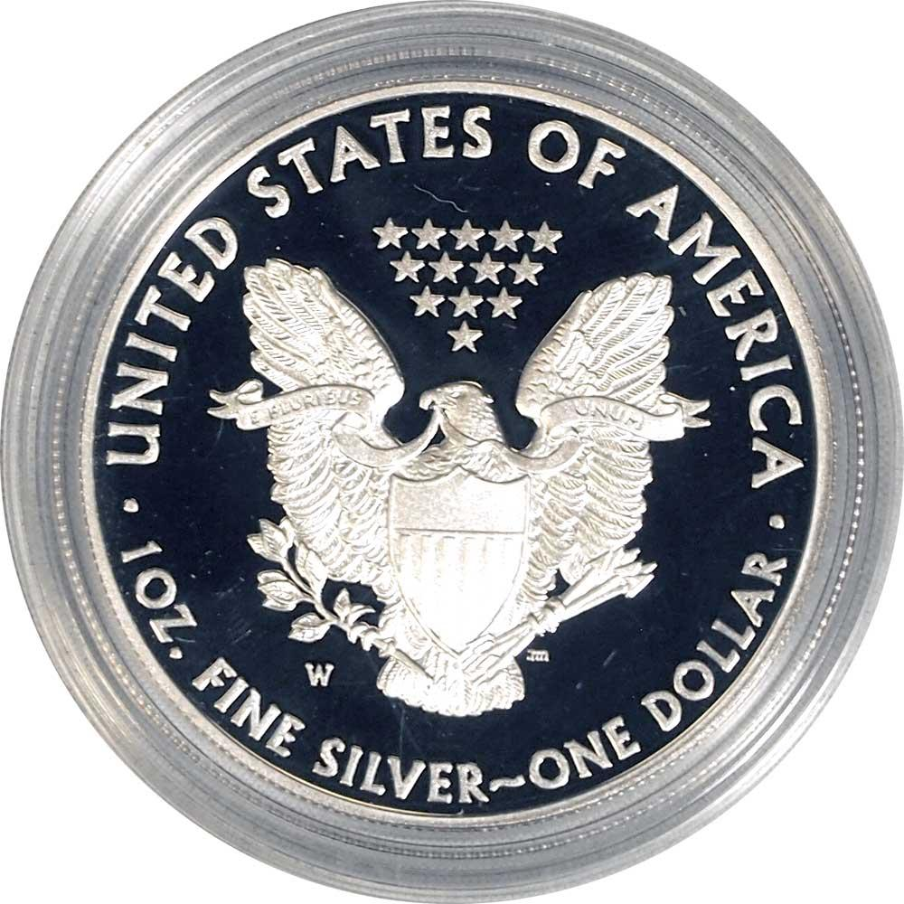 2012 Silver Eagle PROOF In Box with COA 2012-W American Silver Eagle Dollar Proof