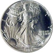 1988 American Silver Eagle Dollar BU 1oz Silver Uncirculated Coin