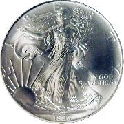 1993 American Silver Eagle Dollar BU 1oz Silver Uncirculated Coin