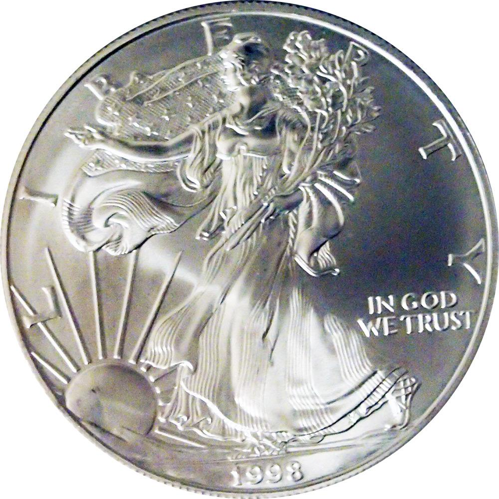 1998 American Silver Eagle Dollar BU 1oz Silver Uncirculated Coin
