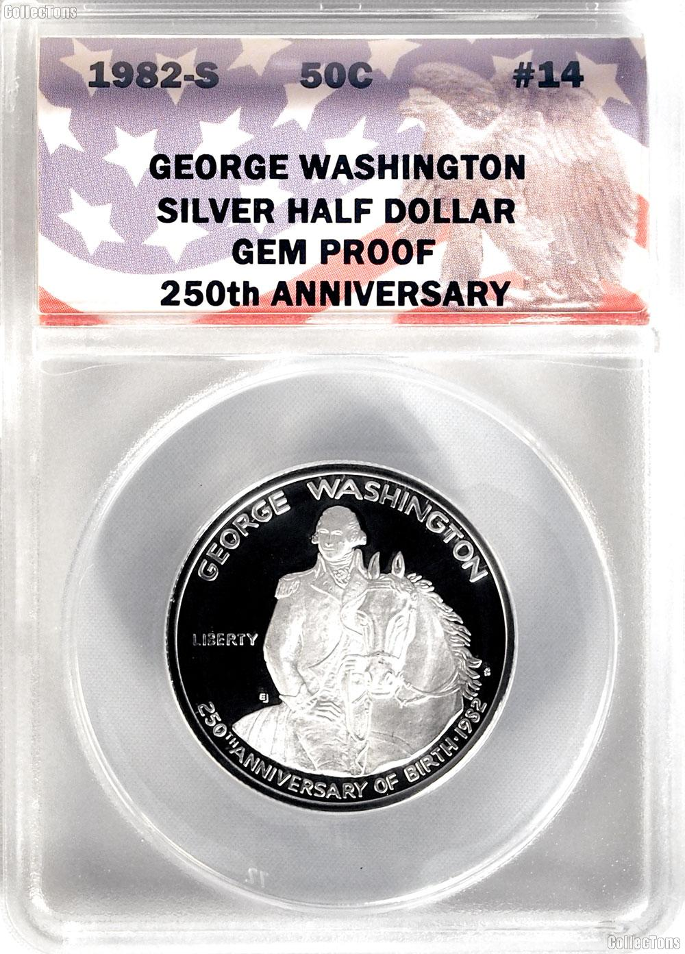 CollecTons Keepers #14: 1982-S George Washington Commemorative Proof Half Dollar Certified in Exclusive ANACS Gem Proof Holder