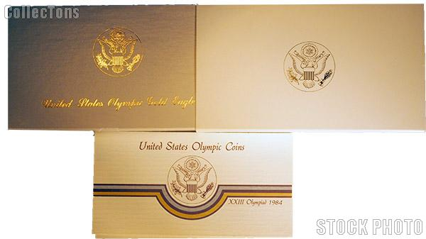 1984 Los Angeles Olympics Commemorative Proof Five Dollar Gold Eagle OGP Replacement Box and COA