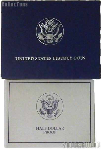 1986 Statue of Liberty Centennial Commemorative Proof Half Dollar OGP Replacement Box and COA