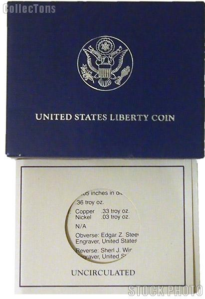 1986 Statue of Liberty Centennial Commemorative Uncirculated Half Dollar OGP Replacement Box and COA