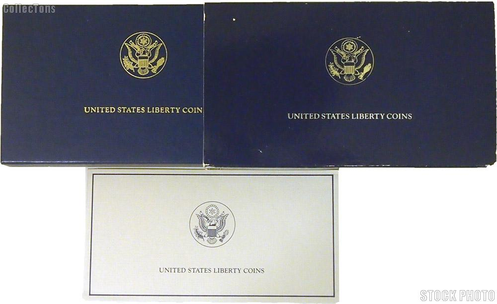 1986 Statue of Liberty Centennial Commemorative Proof Gold Five Dollar OGP Replacement Box and COA