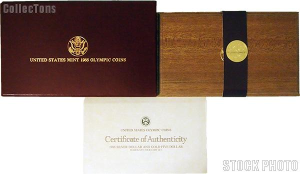 1988 Seoul Olympiad Commemorative Four Coin Set OGP Replacement Box and COA