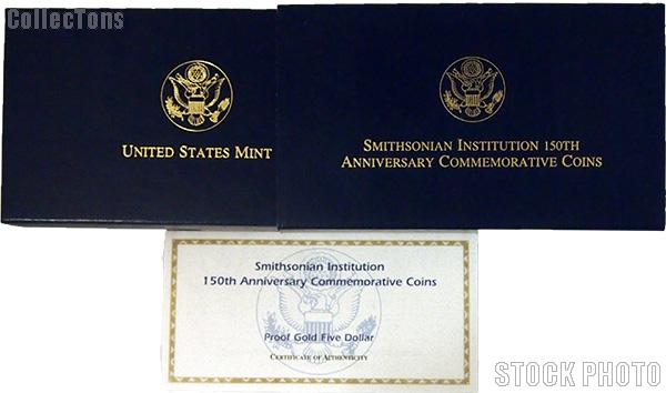 1987 U.S. Constitution Bicentennial Commemorative Proof Gold Five Dollar OGP Replacement Box and COA