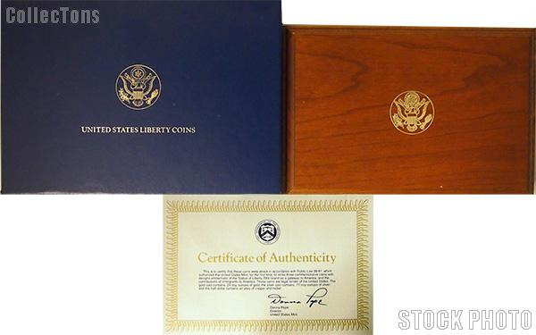 1986 Statue of Liberty Centennial Commemorative Six Coin Set OGP Replacement Box and COA