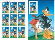 1999 Daffy Duck 33 Cent US Postage Stamp Unused Sheet of 10 Scott #3306