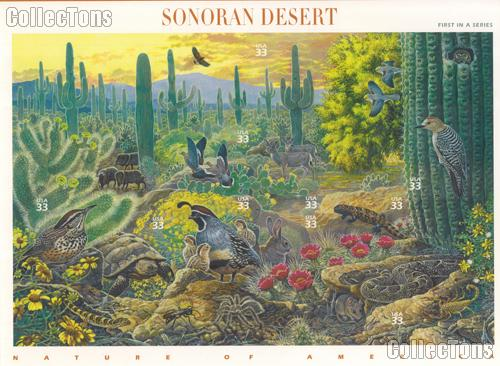 1999 Sonoran Desert 33 Cent US Postage Stamp Unused Sheet of 10 Scott #3293