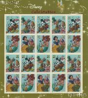 2005 Celebration - Art of Disney 37 Cent US Postage Stamp Unused Sheet of 20 Scott #3912 - #3915