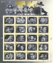 2009 Early TV Memories 44 Cent US Postage Stamp Unused Sheet of 20 Scott #4414