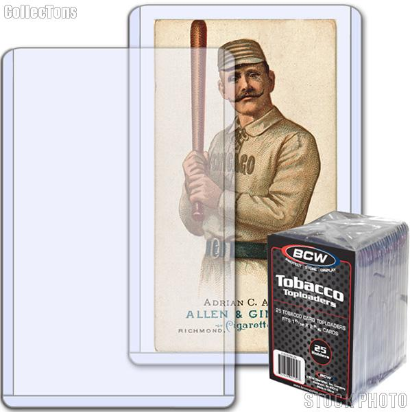 Tobacco Card Holders by BCW 25 Pack Premium Topload Trading Card Holder