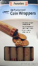 60 Preformed Paper Coin Wrappers for 50 SMALL CENTS