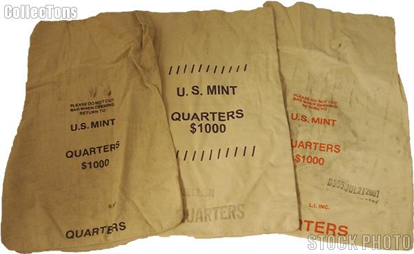 Official Us Mint 1000 Quarters Canvas Money Coin Bag