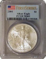 2004 American Silver Eagle Dollar FIRST STRIKE in PCGS MS 69