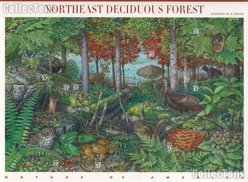 2005 Northeast Deciduous Forest 37 Cent US Postage Stamp Unused Sheet of 10 Scott #3899