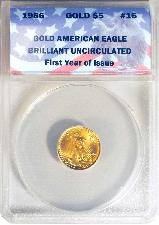 CollecTons Keepers #16 Sale: 1986 GOLD $5 American Eagle