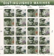 2005 Distinguished Marine 37 Cent US Postage Stamp Unused Sheet of 20 Scott #3961-3964