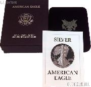 1987-S American Silver Eagle 1 oz Silver Proof Coin OGP Replacement Box and COA