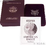 1992-S American Silver Eagle 1 oz Silver Proof Coin OGP Replacement Box and COA