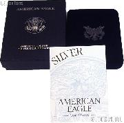 1997-P American Silver Eagle 1 oz Silver Proof Coin OGP Replacement Box and COA