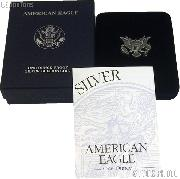 2002-W American Silver Eagle 1 oz Silver Proof Coin OGP Replacement Box and COA