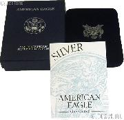 2003-W American Silver Eagle 1 oz Silver Proof Coin OGP Replacement Box and COA