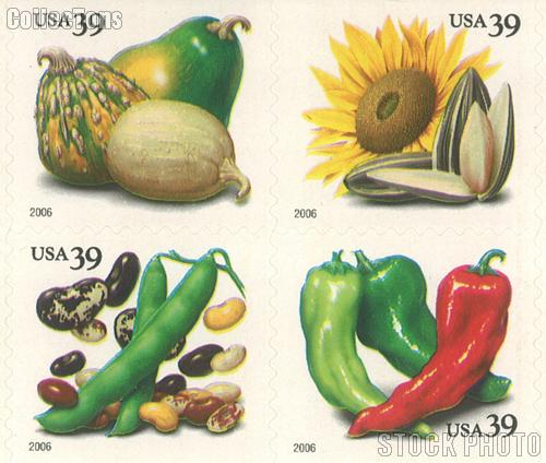 2006 Crops Of The Americas 39 Cent US Postage Stamp Unused Booklet 20 Scott 4008B 4012B
