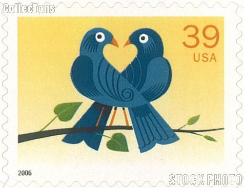 2006 Love 39 Cent US Postage Stamp Unused Booklet of 20 Scott #4029