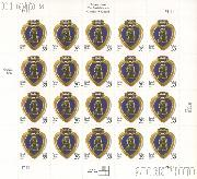 2006 United States Purple Heart 39 Cent US Postage Stamp Unused Sheet of 20 Scott #4032