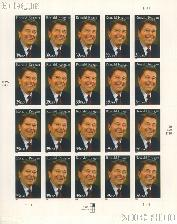 2006 Ronald Reagan 39 Cent US Postage Stamp Unused Sheet of 20 Scott #4078