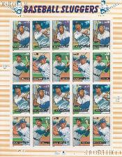 2006 Baseball Sluggers 39 Cent US Postage Stamp Unused Sheet of 20 Scott #4080 - #4083