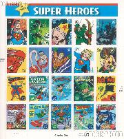 2006 DC Comics Superheroes 39 Cent US Postage Stamp Unused Sheet of 20 Scott #4084