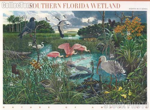 2006 Southern Florida Wetland 39 Cent US Postage Stamp Unused Sheet of 10 Scott #4099