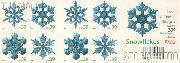 2006 Christmas - Snowflakes 39 Cent US Postage Stamp Unused Booklet of 20 Scott #4105B-#4108B