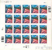 2000 Flag Over Farm 34 Cent US Postage Stamp Unused Sheet of 20 Scott #3449