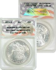 CollecTons Keepers #17: 1878-S Morgan Silver Dollar Certified in Exclusive ANACS Brilliant Uncirculated Holder