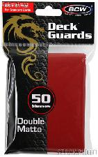 Deck Guard Sleeves for Trading Cards Red by BCW Pack of 50