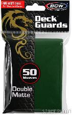 Deck Guard Sleeves for Trading Cards Green by BCW Pack of 50