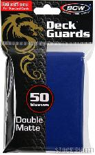 Deck Guard Sleeves for Trading Cards Blue by BCW Pack of 50