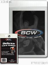 Deluxe 9 Mil Card Holders by BCW 50 Pack Premium Topload Trading Card Holder